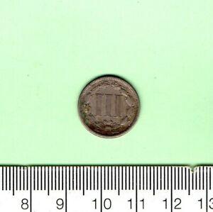 1865 U.S.A. THREE CENT CAPSULED COIN
