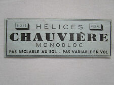 11/1934 PUB HELICE CHAUVIERE BOIS METAL PROPELLER ORIGINAL FRENCH AD