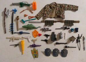 Vintage Toy Weapon & Parts lot, TMNT, THUNDER CATS, GI JOE, HE-MAN, STAR WARS..+