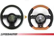 CAMBIO TUNING adintelado Volante de cuero AUDI A1, A6, A7, A8 DSG Marrón