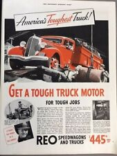 1936 REO Speedwagon Truck Original Advertisement 11x14 Print Art Car Ad LG61