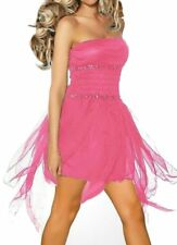 SeXy Miss Damen Mini Kleid Salsa Dance Tanz Dress Chiffon 32/34/36 pink TOP Neu