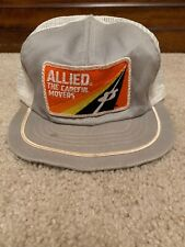 Vintage Allied Movers Snapback Trucker Hat Patch Advertising