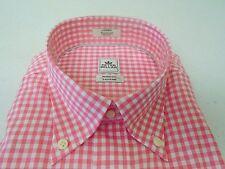Peter Millar Nanoluxe Cotton Gingham Check Sport Shirt NWT M $125 Retro Pink