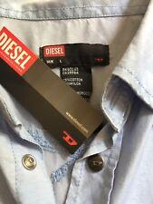 Diesel Women's Blue Shirt - Sz L (NWT)