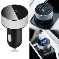 Car Charger 5V/3.1A Quick Charge Dual USB Port Cigarette Lighter Adapter TM