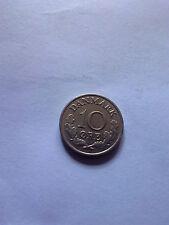 10 ore Denmark 1965 coin Danmark free shipping
