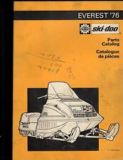 1976 SKI-DOO  EVEREST  SNOWMOBILE PARTS MANUAL P/N 480 1045 00 (258)