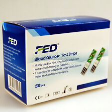 100 FED Blood Glucose test Strips for use in the FED BGM II Glucose Meter