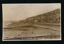 Sussex ST LEONARDS ON SEA beach from Pier 1934 RP PPC