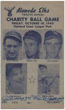 Joe DiMaggio Dom DiMaggio Scorecard Signed Auto Autograph PSA/DNA JSA Yankees
