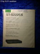 Sony Bedienungsanleitung ST S222ES FM/AM Tuner  (#0017)