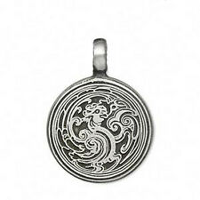 Dragon Necklace Pendant Black Leather Cord Jewelry