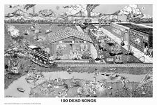 100 Dead Songs Poster! Grateful Dead Hidden Songs Small Town Rock Band
