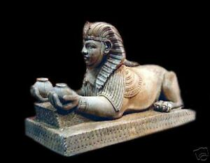 Sphinx stone sculpture egyptian statue figurine figure faux replica
