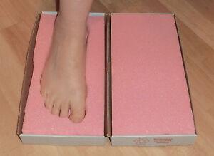 Trittschaum Orthopädie Baby Abdruck 3D Abdruck Einlagen basteln hobby Schuhe
