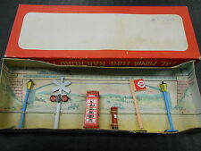 vintage 1960's Lang Craft boxed railroad metal miniatures set Japan