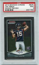 2010 BOWMAN CHROME ROOKIE PREVIEW BCR1 TIM TEBOW RC PSA 9