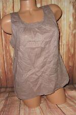 Jr Women's Mossimo scoop neck sleeveless polka dot med brown shirt