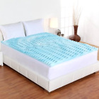 Memory Foam Mattress Topper 3 Inch Thick Bed Pad Orthopedic King Queen Twin Full