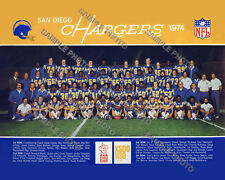 1974 SAN DIEGO CHARGERS NFL FOOTBALL TEAM 8X10 PHOTO PICTURE