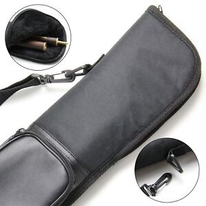 3/4 LARGE ACCESSORY POCKET Soft Snooker Cue Case - 120 Max Shaft Length