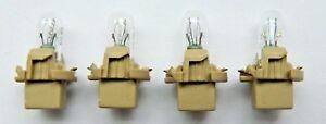 4 NEW OEM FORD F57Z-13B765-BA Dash Instrument Panel Light Bulbs w/ Sockets