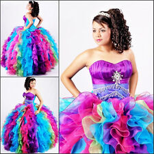 2019 Multi-Color Ball Gown Quinceanera Dresses Prom Pageant Formal Evening Dress