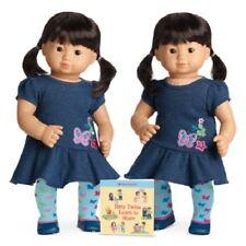 American Girl Bitty Twins girls light skin black hair brown eyes Asian oriental