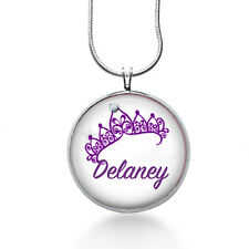 Personalized Name Necklace- Princess Crow -Custom Name Necklace for girls -kids