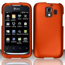For Huawei AT&T Fusion 2 Rubberized HARD Case Snap Snap On Phone Cover Orange