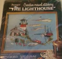 "Vintage Paragon Creative Crewel Stitchery Kit ""The Lighthouse"" 18"" X 22"" 0519"