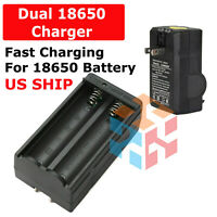 Battery Charger Smart Dual Charger for 18650 3.7V Rechargeable Li-ion Batteries