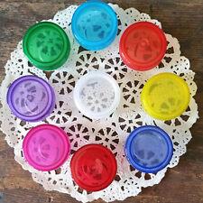 50 Reusable Plastic Mini JARS for diy creme lipgloss storage container USA #3301