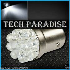 2x Ampoule 9 LED Bulb Blanc White feux stop cligno P21W / BA15S / 1156 / R5W 12V