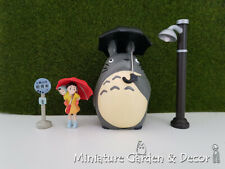 1 set My Neighbor Totoro (10cm) Bus Stop Scene Figurines for Miniature Garden
