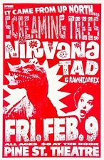 1990 Nirvana Screaming Trees 12 x 16 Reproduction Concert Poster Print