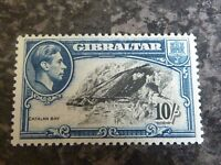 GIBRALTAR POSTAGE STAMP SG130A 10/- VERY LIGHTLY MOUNTED MINT