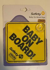 "Luxxii (2 Pack) 6"" x 6"" Baby on Board Yellow Safety Sign with Suction Cup"