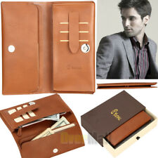 Long Fashion Men Genuine Leather Bifold Card Purse Wallet iPhone 8 Plus Case NEW