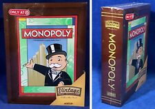 New - MONOPOLY Vintage Game Collection WOODEN Bookshelf Wood Box 2009 SEALED