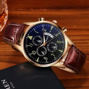 Mens Watch Mechanical Simple Style New Strap Auto Date Analog Luxury