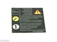 original Renault Control KONTROLLE precaución Etiqueta Mégane Scénic Fluencia