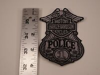 "Harley-Davidson #1 Police Bar & Shield Embroidered Patch 3.75""x2.75"""