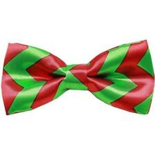 NEW Red and Green Chevron Christmas Dog Bow Tie Small by Mirage Pet Products
