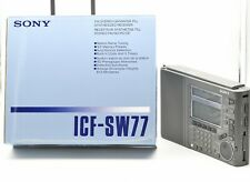 Sony Icf Sw-77 World Band Radio Receiver w/Box & Accessories