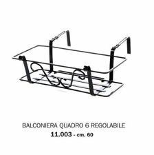 Balconiera Fioriera Gdlg Fibra Cocco Rettangolare Struttura Ferro 40Cm Conf 6Pz