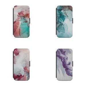 Сoloured Мarble Stone Rock Colourful art designs L79 Flip Wallet phone case
