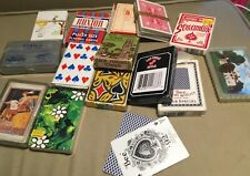 Lot Vintage Collectible Decks Playing Cards Casino Advertising Oil Gas Airlines
