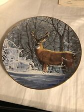 """""""Winter Whitetail"""" by Bruce Miller Friend of the Forest Plate Danbury Mint"""